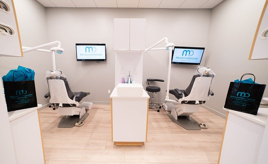 Dental treatment room at Meadowbrook Dentistry